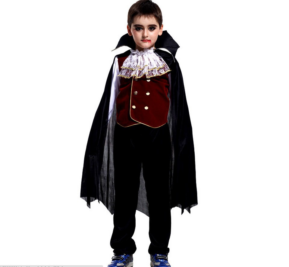 boys carnival dracula vampire cosplay costume child's noble vampire