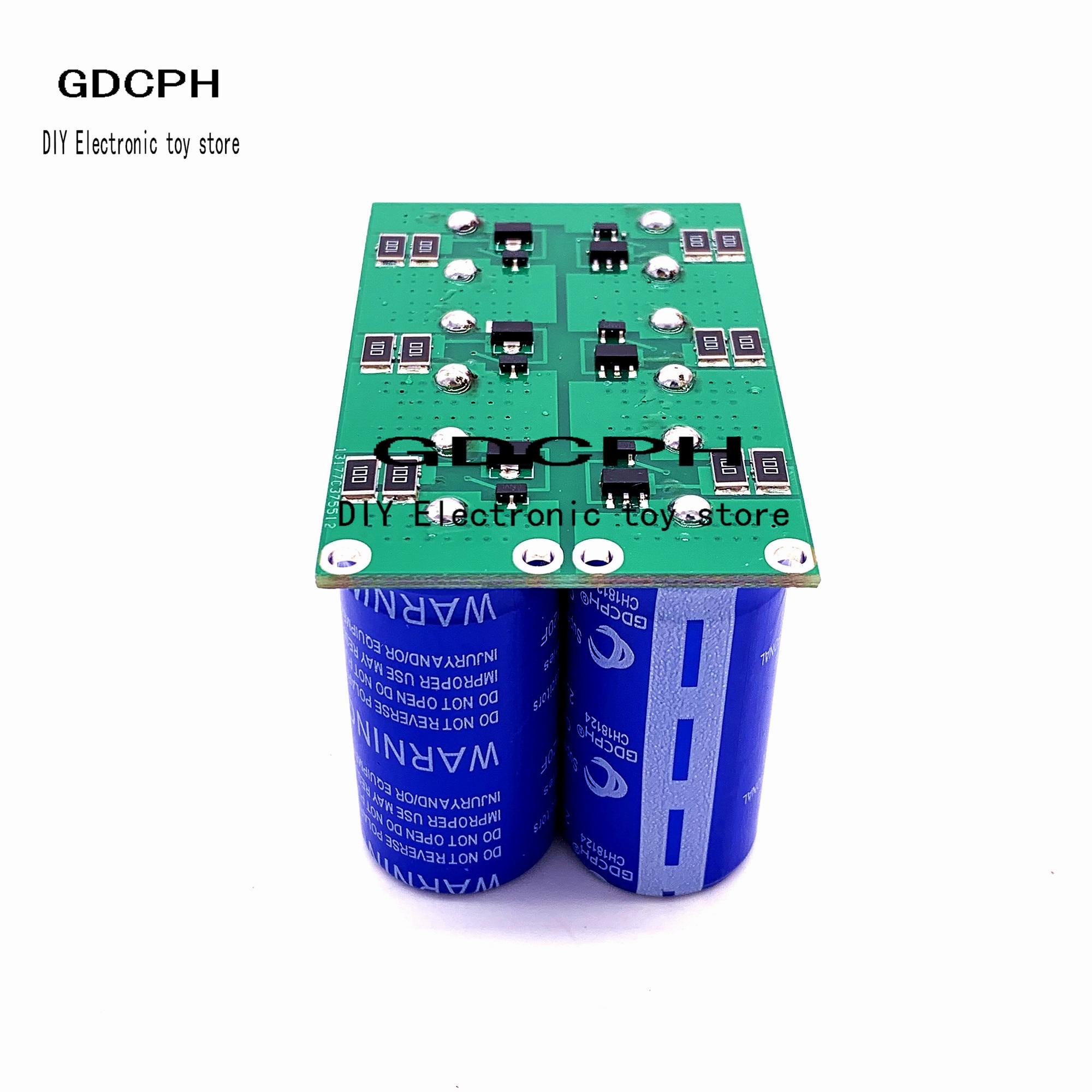 16 V 20F Super Farad Capacitor Duplo Row/Única Linha 6 Pcs Ultracapacitor 2.7 V 120F Retificador Automotivo Com Placa De Proteçã