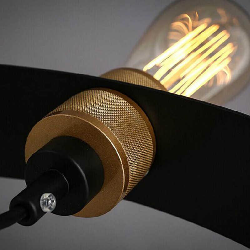 Подвесной светильник с 6 головками, светильник для гостиной, столовой, ресторана, бара, клуба, офиса, кафе, светильник, винтажная люстра, железный подвесной светильник