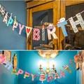 2 Unids Alta calidad Partido Banderas Bunting Banner Decoraciones Para Fiestas de Cumpleaños de La Boda de cinta de Color
