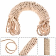10M sisal rope for cats scratching post toys making DIY desk foot stool chair legs binding rope material for cat sharpen claw