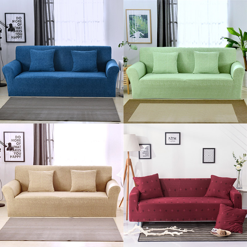 Living Room Chair Covers: Modern Pure Color Fashion Elastic Sofa Covers For Living