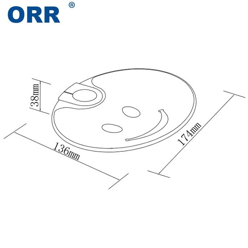 Cheap Soap Dish Holder Bathroom Accessories Oval Travel Carry Case Smile Plastic Plate Tray Casa De Banho ORR