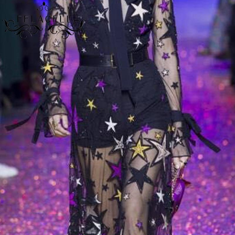 FFLACELL 5 mètres exquis paillettes Tulle dentelle tissu étoile robe de mariée maille tissu large 125 cm-in Tissu from Maison & Animalerie    1