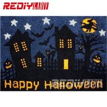 diy carpet rug happy halloween blanket latch hook rug crocheting tapestry 100 acrylic yarn cushion - Halloween Rugs