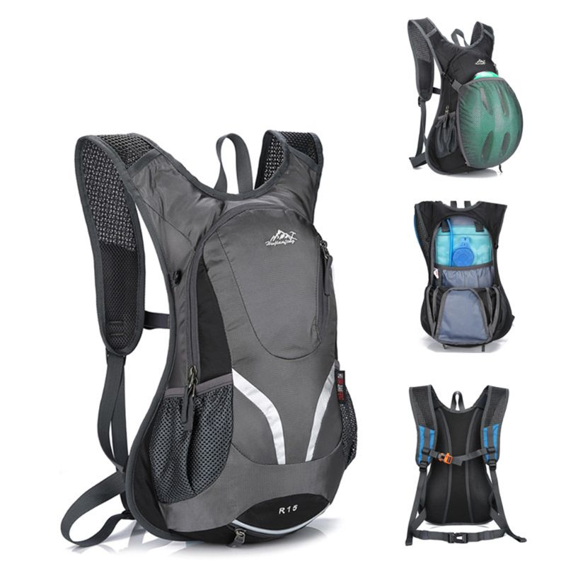 15L Cycling Backpack With Helmet Holder Lightweight Sports Bag MTB Mountain Bicycle Rucksack