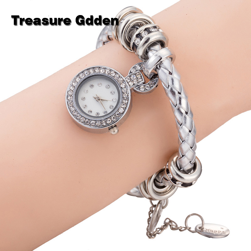 Hot Item Genuine Diamond Leather Bracelet Watch women