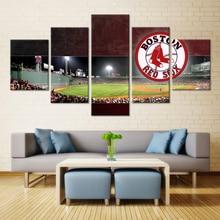 5 Pieces Boston Red Sox Stadium Modern Home Wall Decor Painting Canvas Art Hd Print