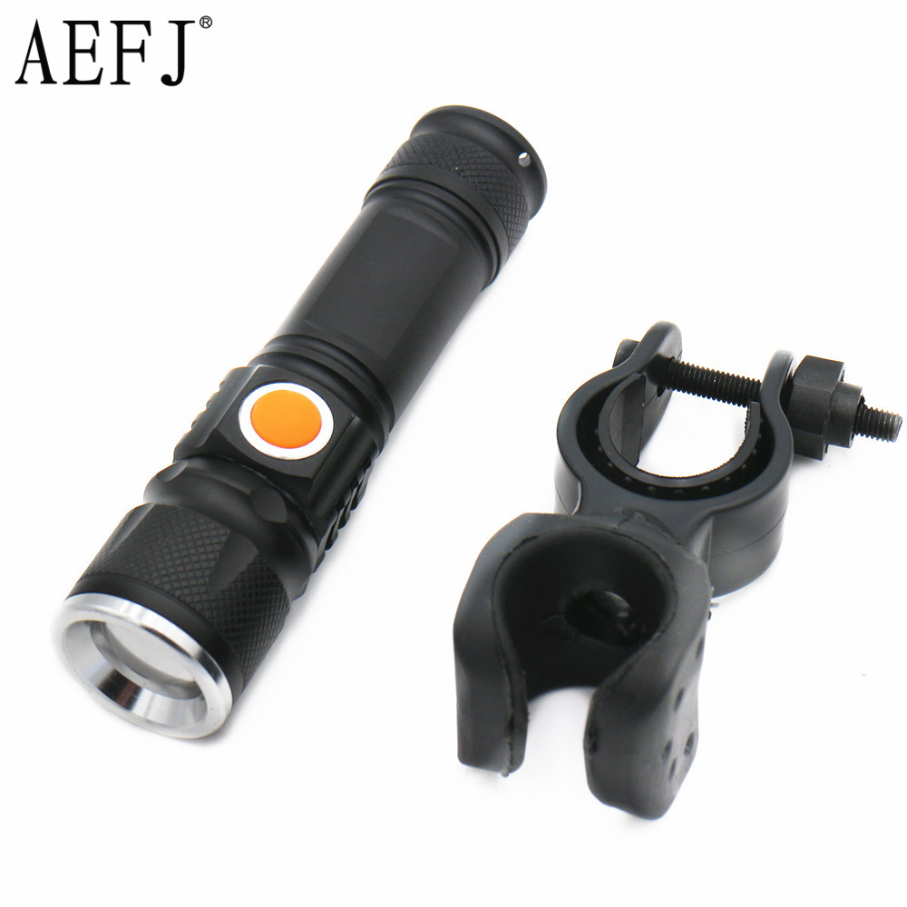 6000LM USB Handy T6 LED Torch usb Flash Light Pocket LED Rechargeable Flashlight Zoomable Lamp For Hunting +Bicycle clamp warsun 268 lumen mini handy led torch flash light rechargeable zoomable lamp lantern linternas flashlight for hunting zoom8