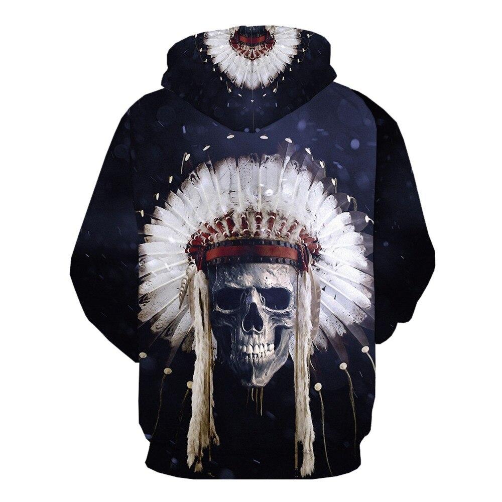 Men Zipper Sleeveless Hoodie Skull 3D Full Printed Casual Sweatshirts Hoodies