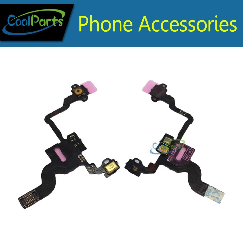 5pcs/lot High Quality For iPhone 4 Replacement Parts Sensor Switch Power Button ON OFF Button Flex Cable