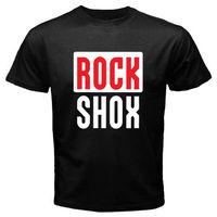 New ROCK SHOX Logo Núi MTB Biker Bicycler của Nam Giới Trắng Đen t-shirt Kích Thước S-3XL T Shirt Gift Kích Thước Hơn và Màu Sắc Top Tee