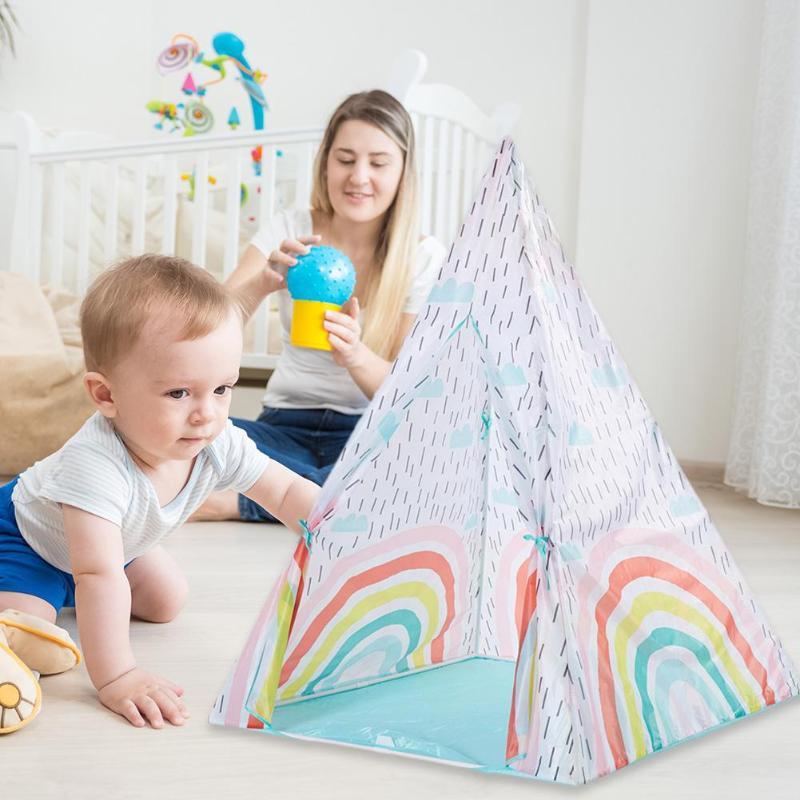 Tissu enfants tente coloré Portable intérieur extérieur jouer tente maison cadeau intérieur extérieur enfants maison enfants chambre