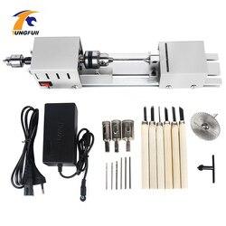 12-24V Mini torno máquina herramientas torno Conjunto estándar bricolaje carpintería Buda perla pulido Mini cuentas máquina