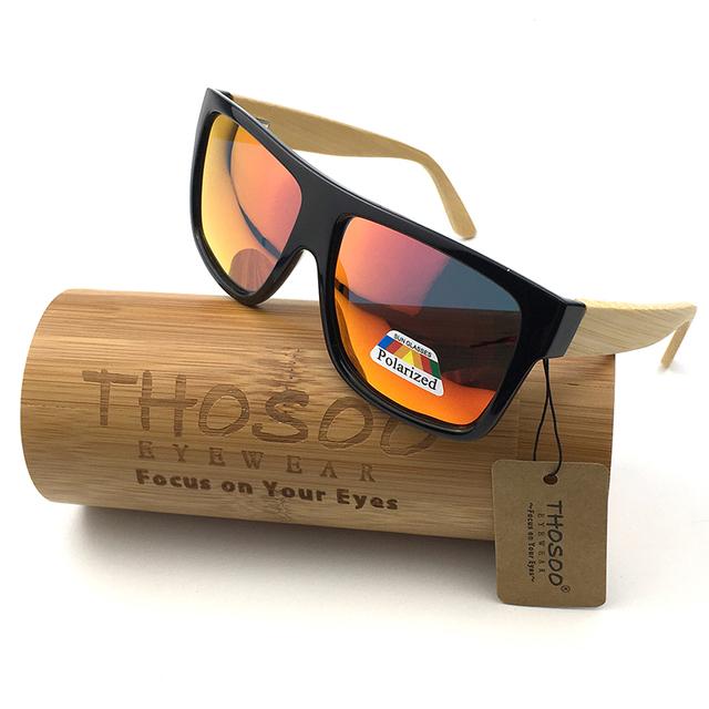 Envío Libre Caliente Gafas Polarizadas Marco de la PC con el Templo De Bambú gafas de Sol y W1001R REVO Lentes Polarizadas Gafas De Sol De Madera