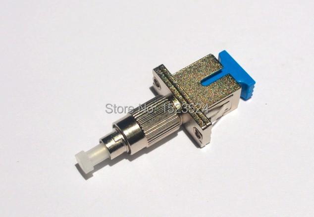 Envío gratis SC para mujer a FC adaptador de fibra óptica para hombre óptico para la medidor de potencia óptica, localizador Visual de fallos