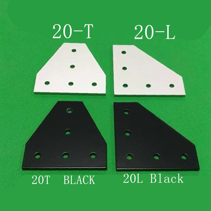 5 Hole 90 Degree Joint Board Aluminum Plate Corner Angle Bracket Connection Joint Strip With 5 Holes For Profile 2020 Series