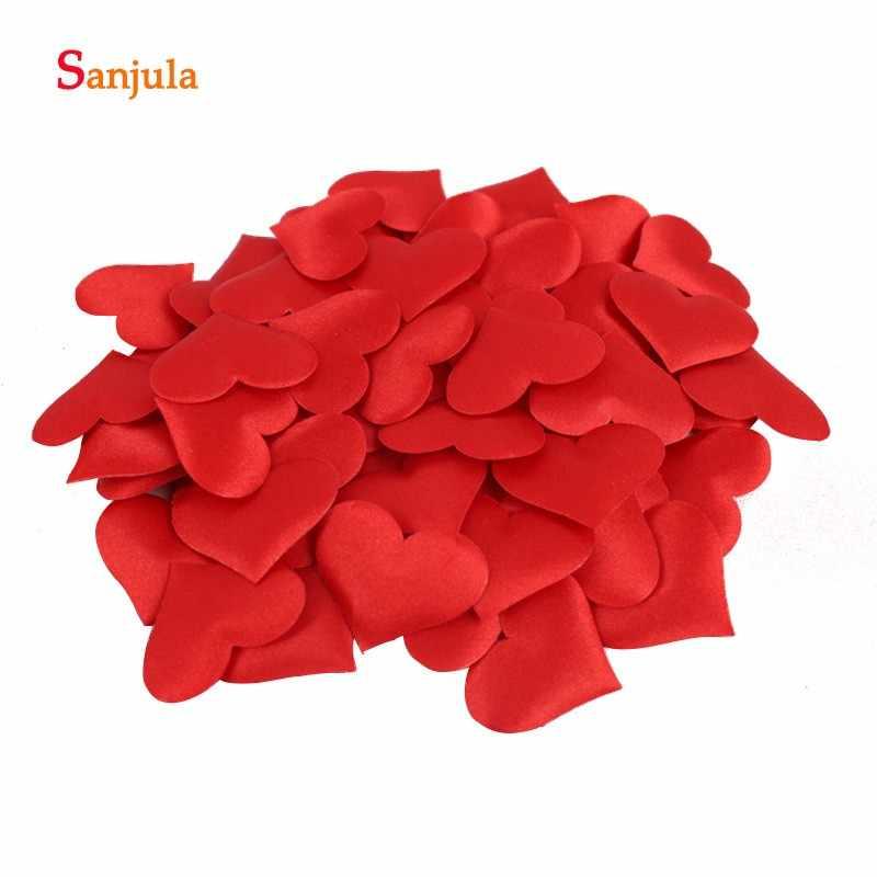 Роза в форме сердца лепестки в продаже 8 различных цветов Искусственные Свадебные аксессуары 100 шт./лот специальные украшения boda RS05
