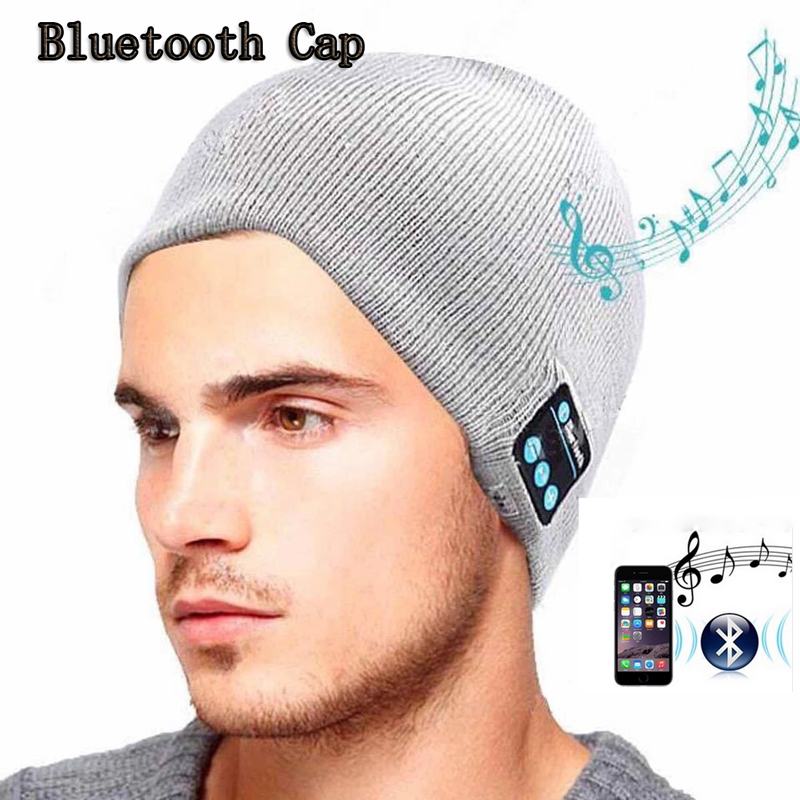 High Quality Bluetooth Smart Cap Headphone Headset Earphone Soft Warm Beanie Hat Speaker Music Hat Headphones with Microphone wireless bluetooth music beanie cap stereo headset to answer the call of hat speaker mic knitted cap