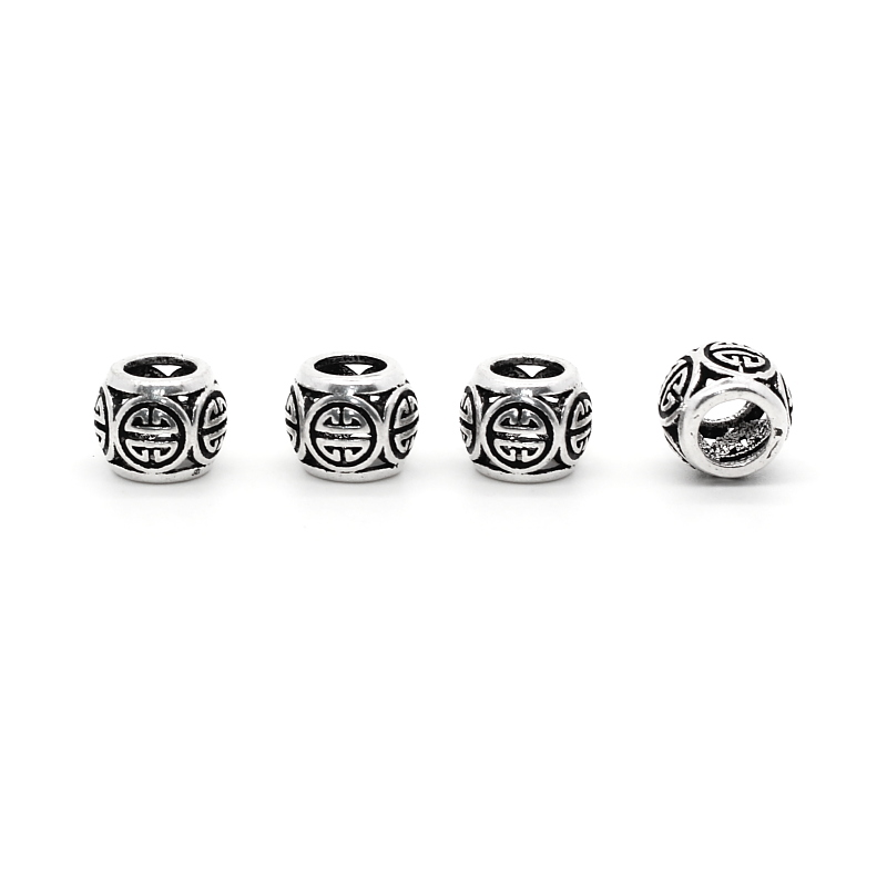 6pcs/lot 925 Silver Chinese Money Coin Pattern Charms