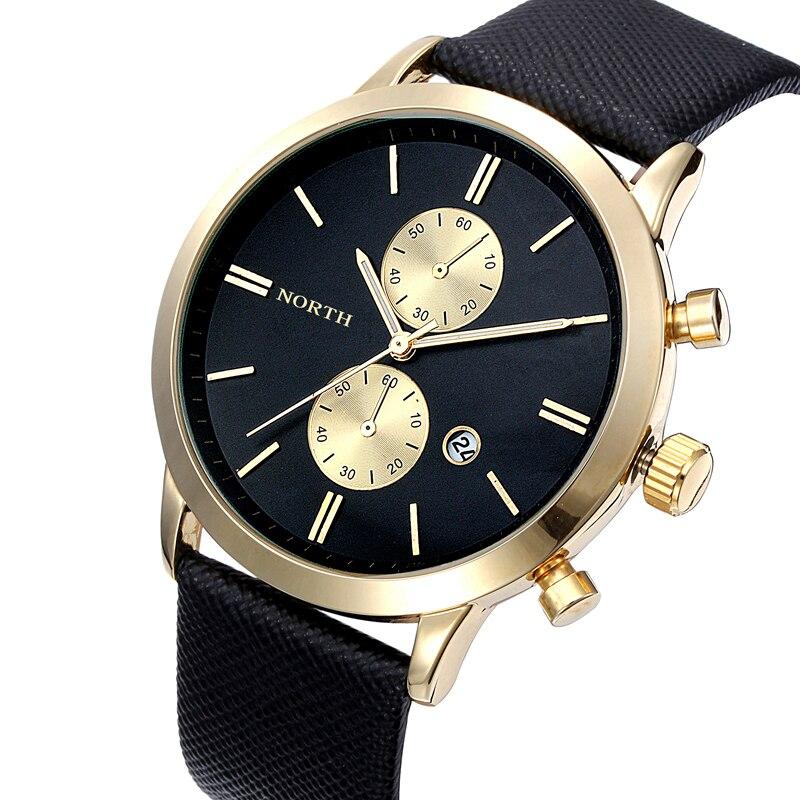 Fabulous 1PC Fashion Men Casual Date Leather Military Japan Watch Gift Jun30