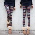 Autumn Womens Nordic Reindeer Snowflack Pattern Knitted Printed Leggings Stretchable Fashion Pants