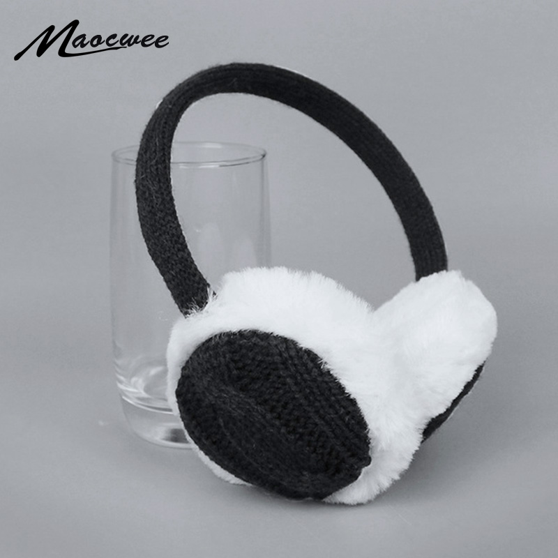 Fashion Winter Earmuffs Women's Warm Unisex Ear Cover Knitted Plush Earwarmers Girl Winter Warm Earmuffs Faux Fur Ear Muffs