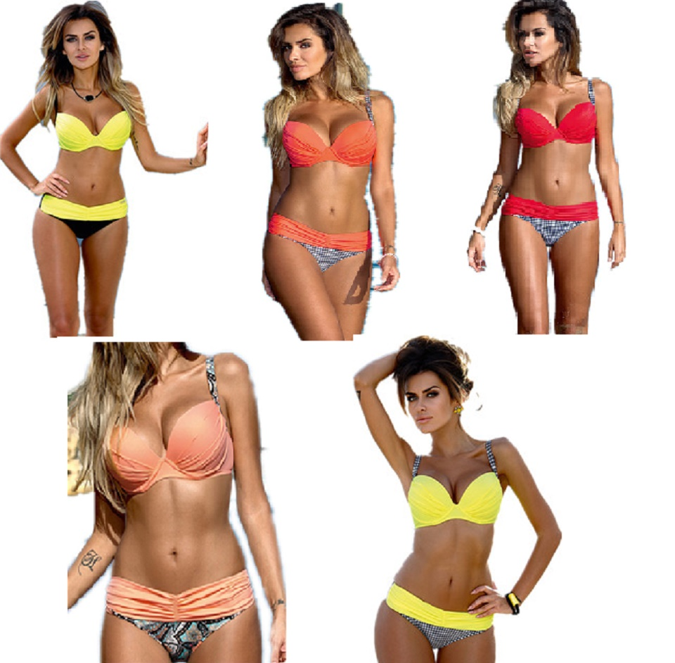 2016 Swimwear Bikini Set Summer Sexy Women Swimsuit Tankini Push Up Bathing Suit Brazilian