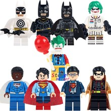 Single super hero African Superman Clark Kent Robin Superwoman Bullseye Batman building blocks models toys for children kits(China)