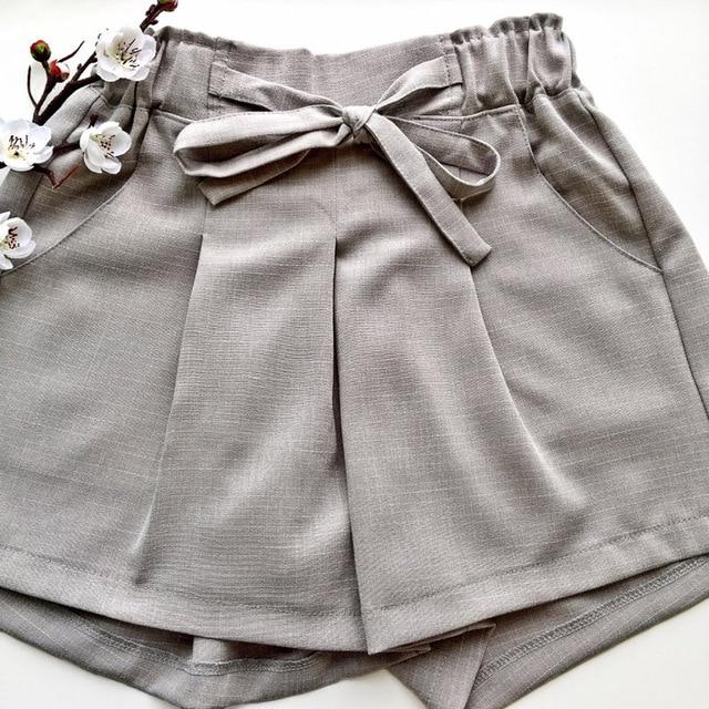 Cotton Linen Summer Suit Female 2 Pieces Set Tracksuit for Women Loose Blazer & Bow Elastic Waist Short Pant Suits High Quality 6