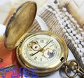 Rare Archaize 5 Hands Mechanical Pure Brass Pocket Watch freeship