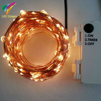 Outdoor Timer 20M 200 Led 3AA Battery Powered Copper Wire Fairy String Light Lamp Waterproof For