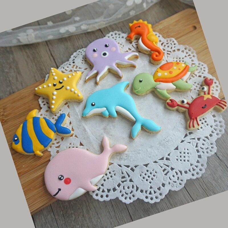 1 x Ocean Sea Animals Star Fish Fondant Cookie Cutter Mold Cake Decorating Tools