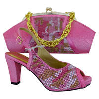 New Arrival Wholesale Italian Design Shoes With Handbag For African Lady High Quality