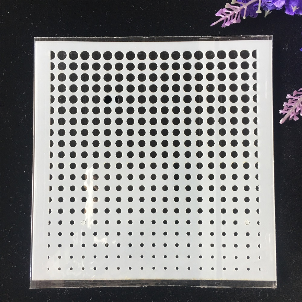 1Pcs 13cm Dot Printed DIY Craft Layering Stencils Wall Painting Scrapbooking Stamping Embossing Album Card Template