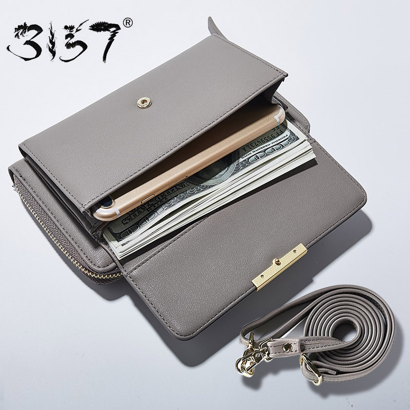 3157 Fashion Women Wallet Leather Small Crossbody Bags Girls Purse Multiple Cards Holder Phone Pocket Female Standard Wallets