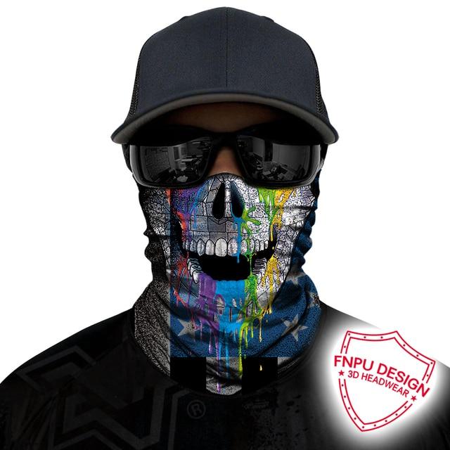 BJMOTO Windproof Multicolor Magic Head Face Mask Neck Gaiter Snood Headwear Motorcycle Cycling Tube Scarf Men Women Headband 4