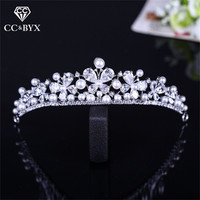 CC Tiaras And Crowns Crystal Freshwater Pearl Simple Design Vintage Wedding Hair Accessories For Bride Engagement