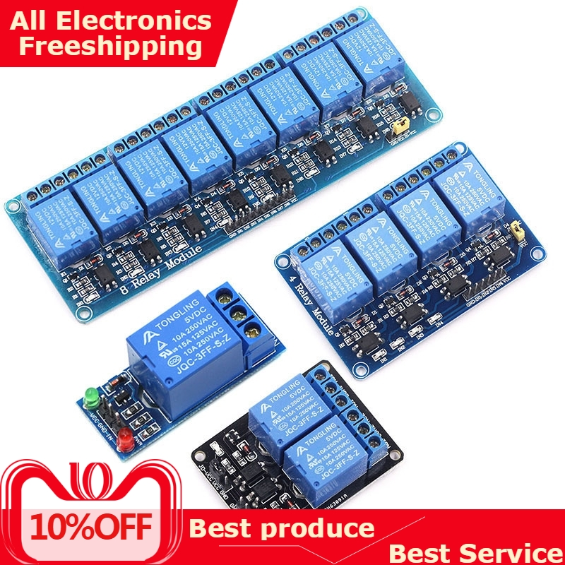 5V 12V 8 Channel Relay Module With Optocoupler. Output 1 2 4 6 8 Way Relay Module