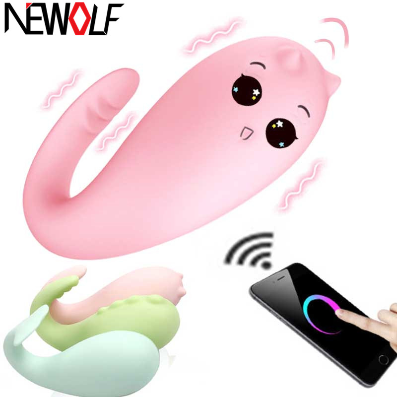 Monster Pub Vibrator 8 frequency Internet <font><b>Sex</b></font> <font><b>Toys</b></font> <font><b>Sex</b></font> Products Remote Control USB Vibrating <font><b>Egg</b></font> Bluetooth Connected G Spot Q49 image