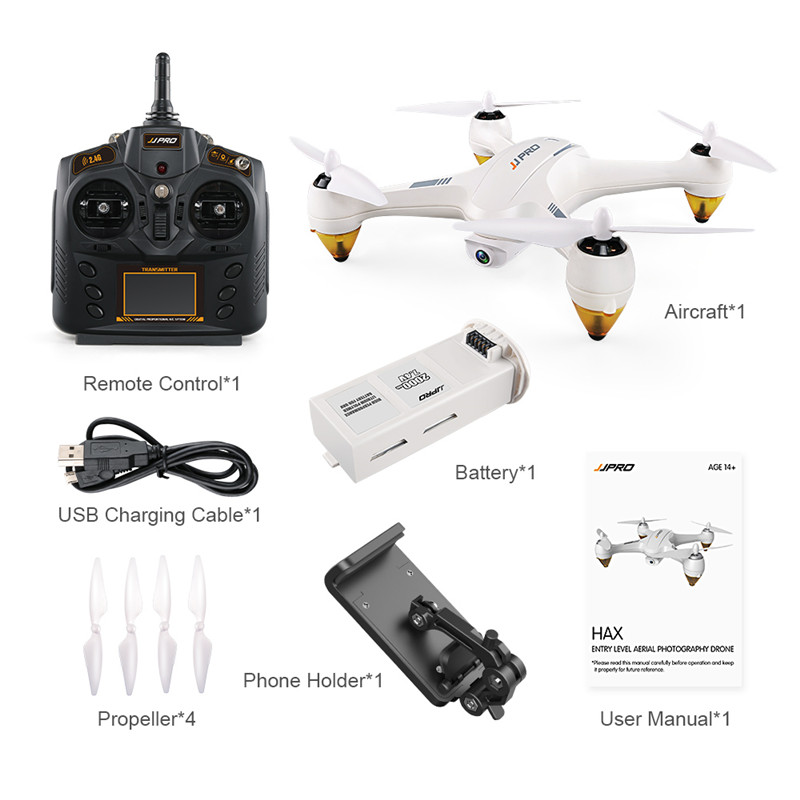 JJRC JJPRO X3 HAX RC Drone with Brushless RTF 1080P Camera Dual-Mode Wifi FPV GPS RC Quadcopter Toy