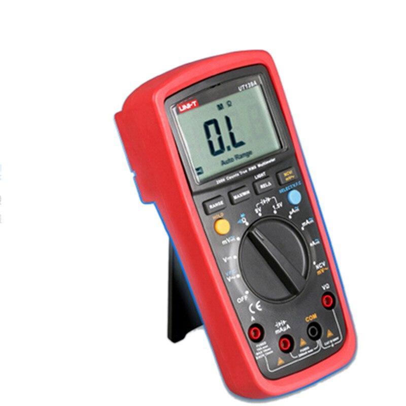 Multimeter UNI-T UT139A Digital Multimeters Auto Range NCV LCD Backlight Test LCR multimeter True RMS Multimetro true rms digital multimeters uni t ut139a ac dc voltage and current auto range handheld multimeter