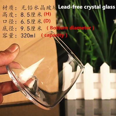 New! Handmade Healthy Lead-Free Crystal Creative Wine Glass Whisky Juice Cup
