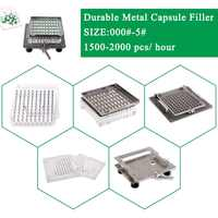 Best quality 304 stainless steel Semi-automatic capsule maker, easy operate empty capsule filling kit size 000-5