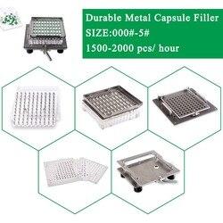 Najlepsza jakość 304 półautomatyczny ekspres do kapsułek ze stali nierdzewnej  łatwy w obsłudze pusta kapsuła zestaw do napełniania rozmiar 000-5