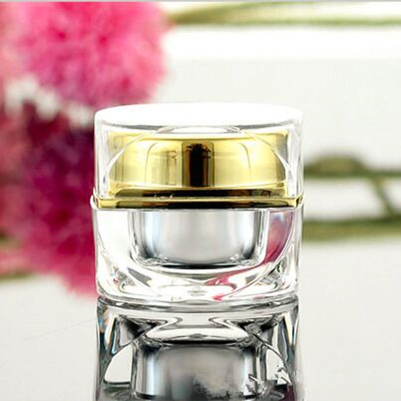 1PC/lot High Quality 5g 10g Empty Jar Eyeshadow Makeup Face Cream Container Bottle Acrylic Cream Jar Octagon Cosmetics Bottle 10pcs 5g cosmetic empty jar pot eyeshadow makeup face cream container bottle acrylic for creams skin care products makeup tool
