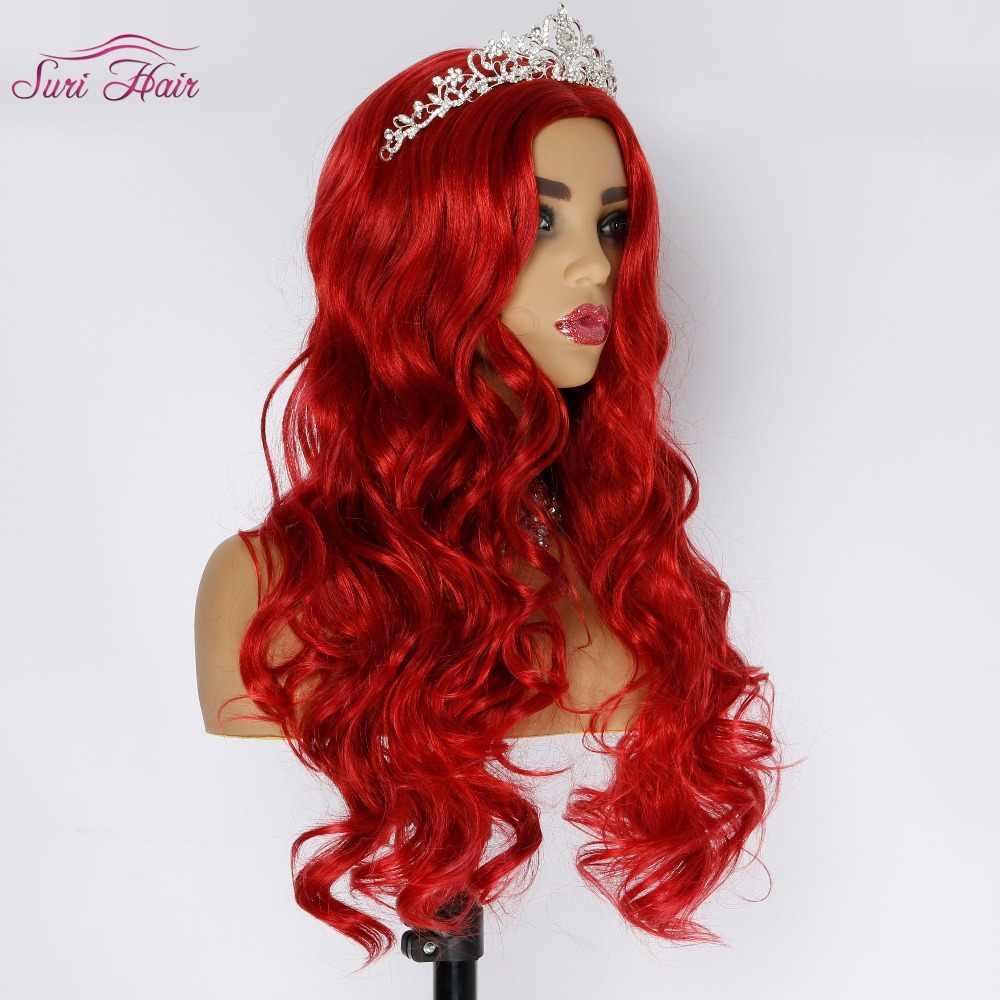 Сури волосы 30 дюймов красный парик для женщин синтетические волос парики для афро-американцев длинные волнистые парик косплей волос без удары жаропрочных
