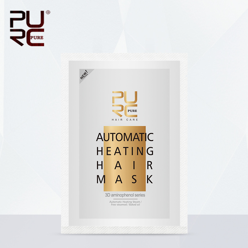 PURC Professional 50g Automatic Heating Steam Hair Mask Keratin Argan Oil Treatment Hair Coarse / Dry /Split Hair Care purc 12
