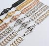 14mm 16mm 17mm 18mm 19mm 20mm 22mm Watchband Bracelets Mens Women Stainless Steel Band Silver Gold
