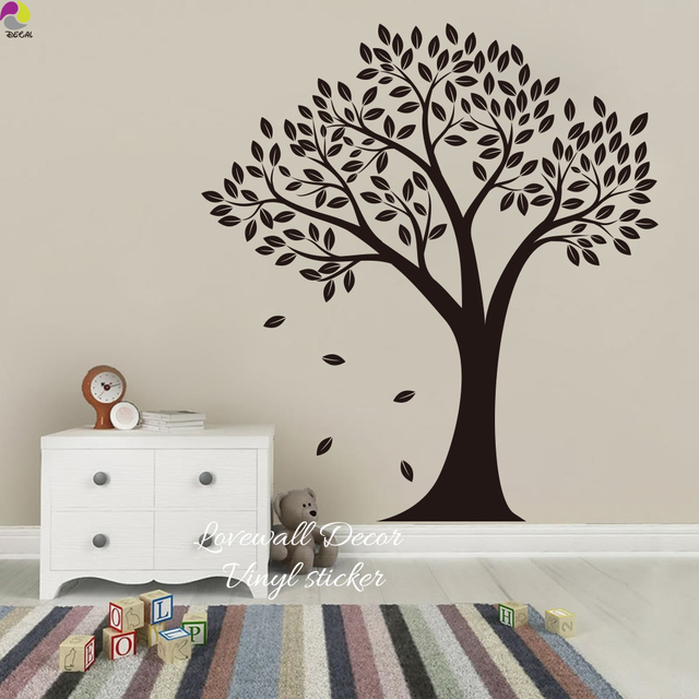 cartoon big tree wall sticker baby nursery living room large tree